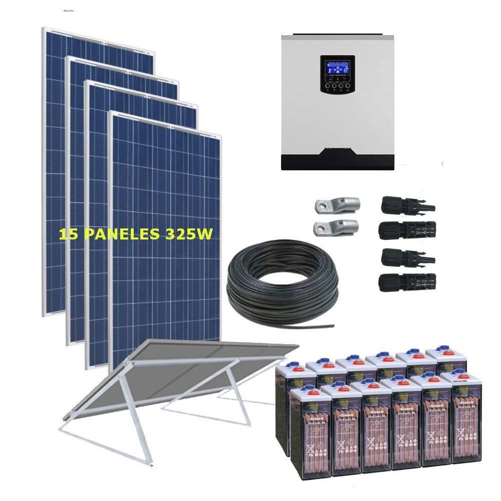 Kit Solar 5000W _48V _24000Wh/Día