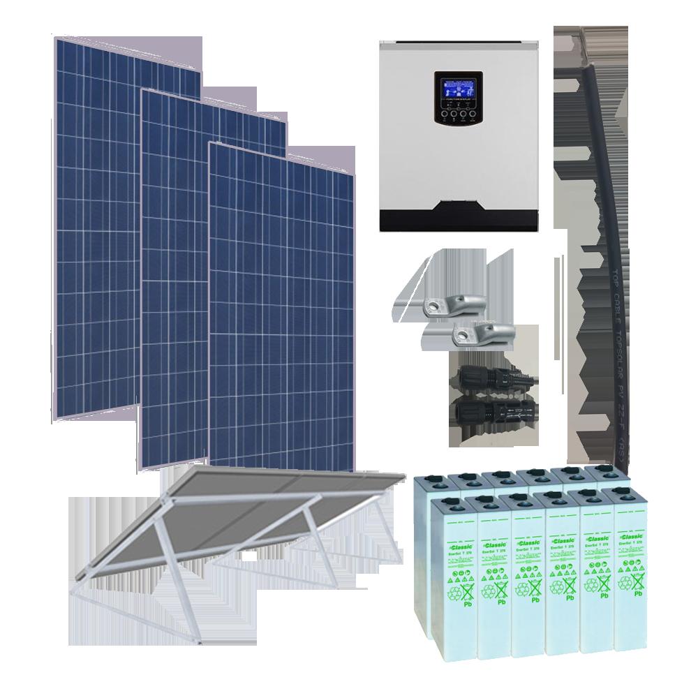 Kit Solar 3000W _ 24V _ 4800Wh/día