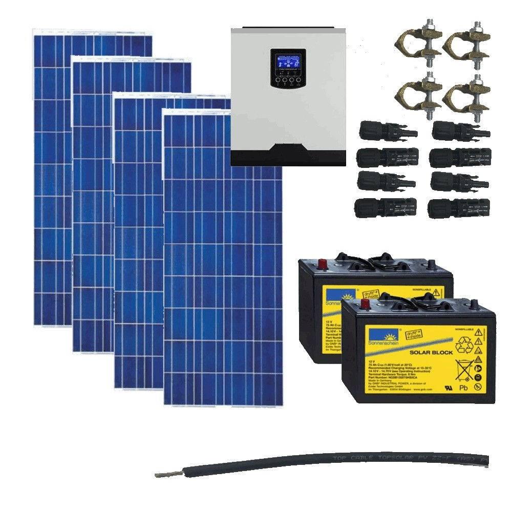 Kit Solar 1000W _ 12V _ 3000Wh/día