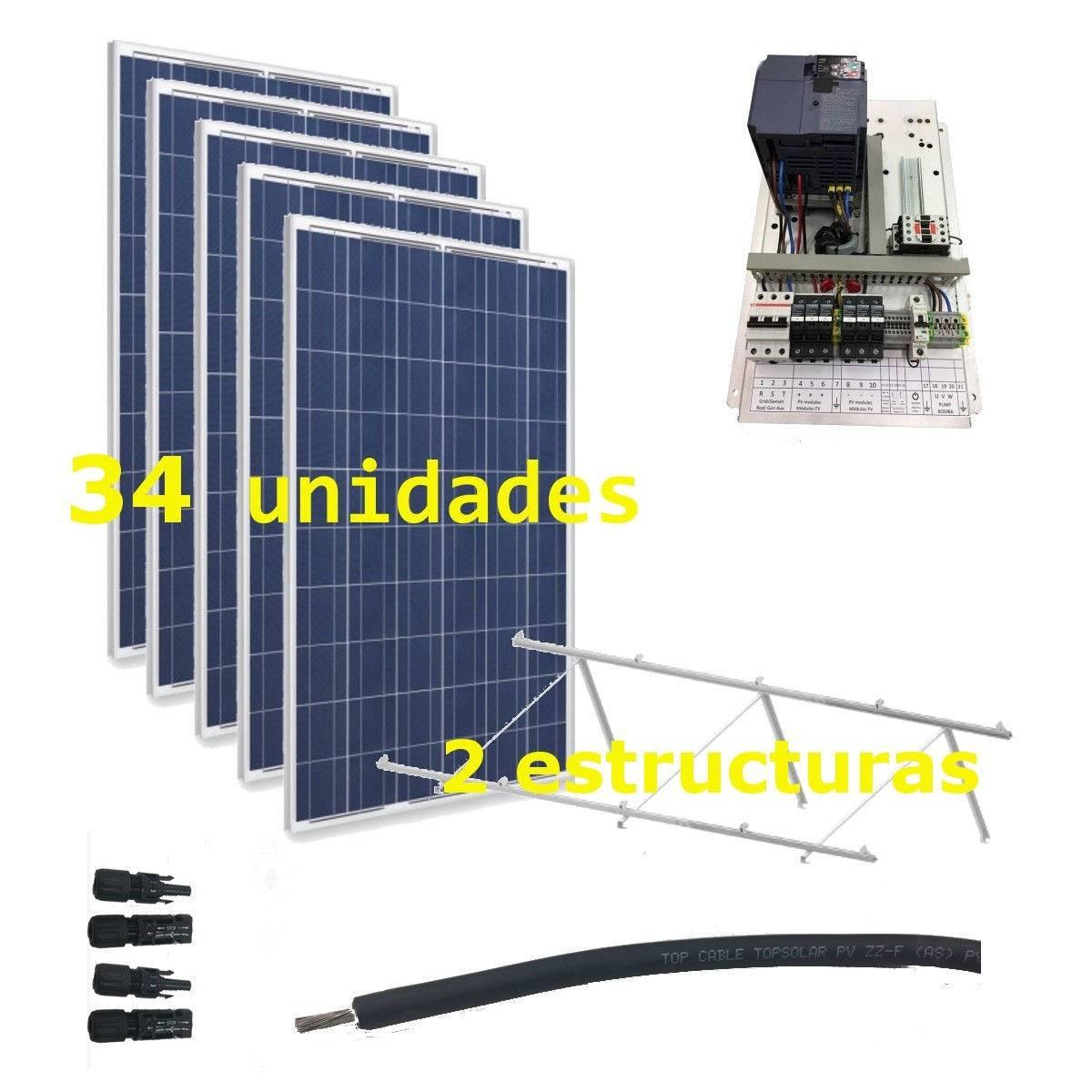 Kit Bombeo solar 400V hasta 7.5kW de bomba (IP20)