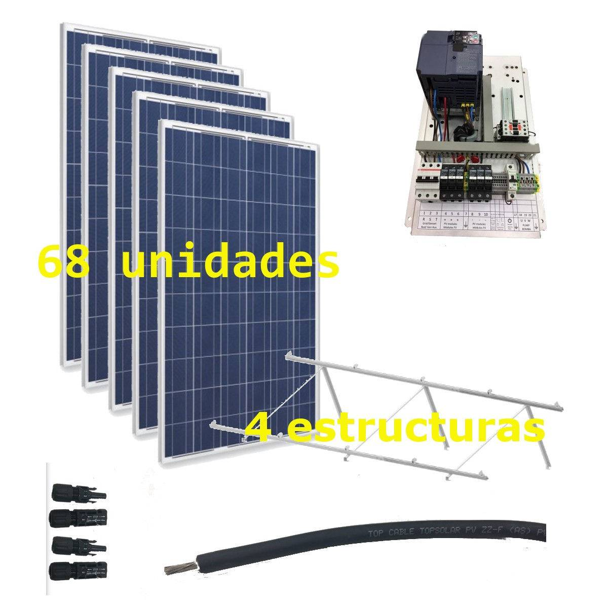 Kit Bombeo solar 400V hasta 15kW de bomba (IP20)