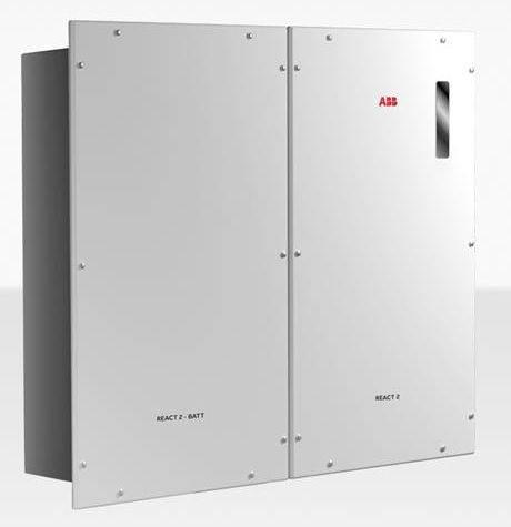 Inversor Cargador ABB REACT2 5.0-TL con una batería REACT2-BATT-AP1