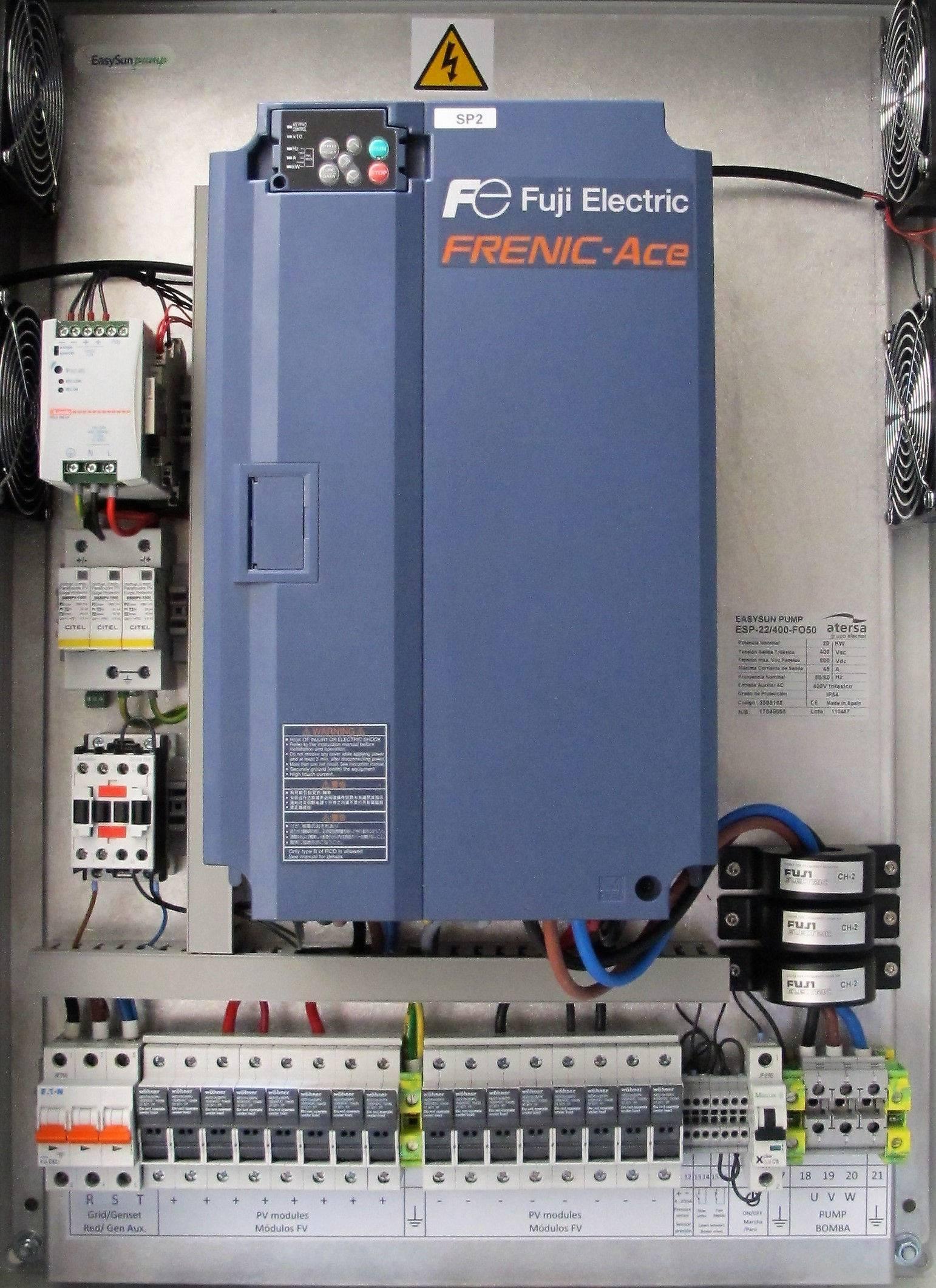 Bombeo solar ESP 22kW 400 IP20 F050