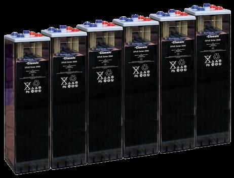 Bateria estacionaria  OPzS SOLAR 2500 / 2500 Ah C120