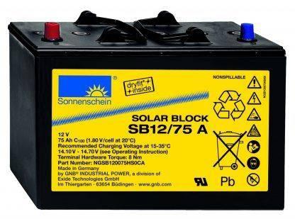 SB12/75A / 75Ah C100