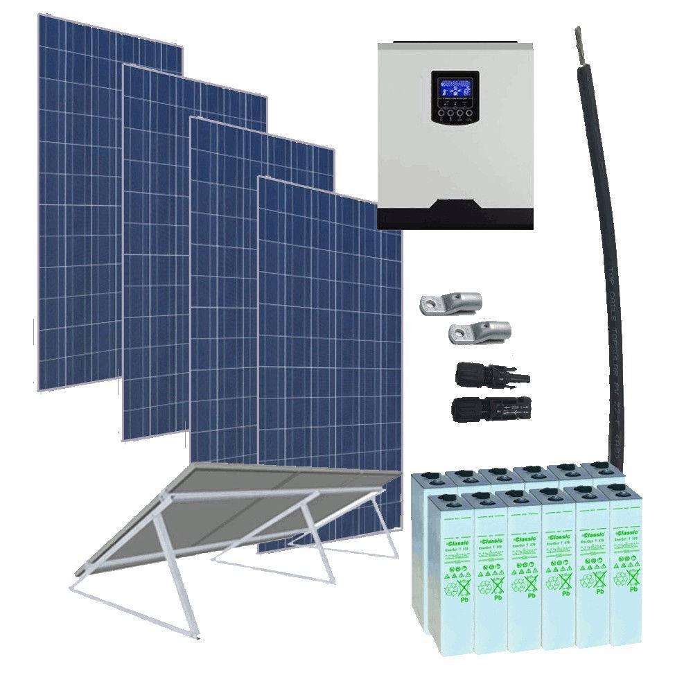 Kit Solar 3000W 24V / 6400Wh/día / 452Ah