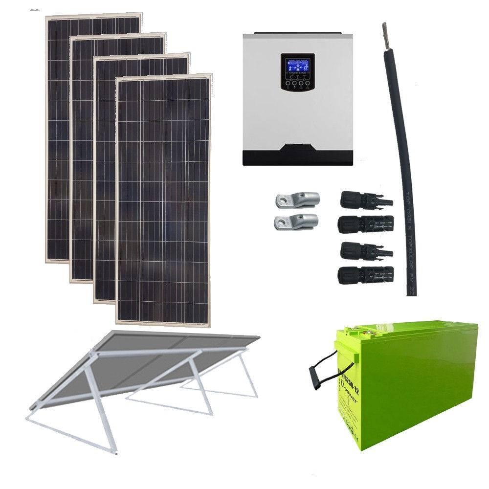 Kit Solar 1000W _ 12V _ 3000Wh/día ECONOMY