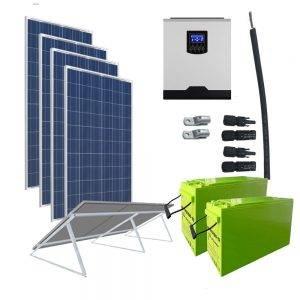 Kit Solar 3000W 24V  6400Wh/día Economy