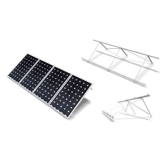 Estructura soporte para 4 módulos 60 células 30 grados