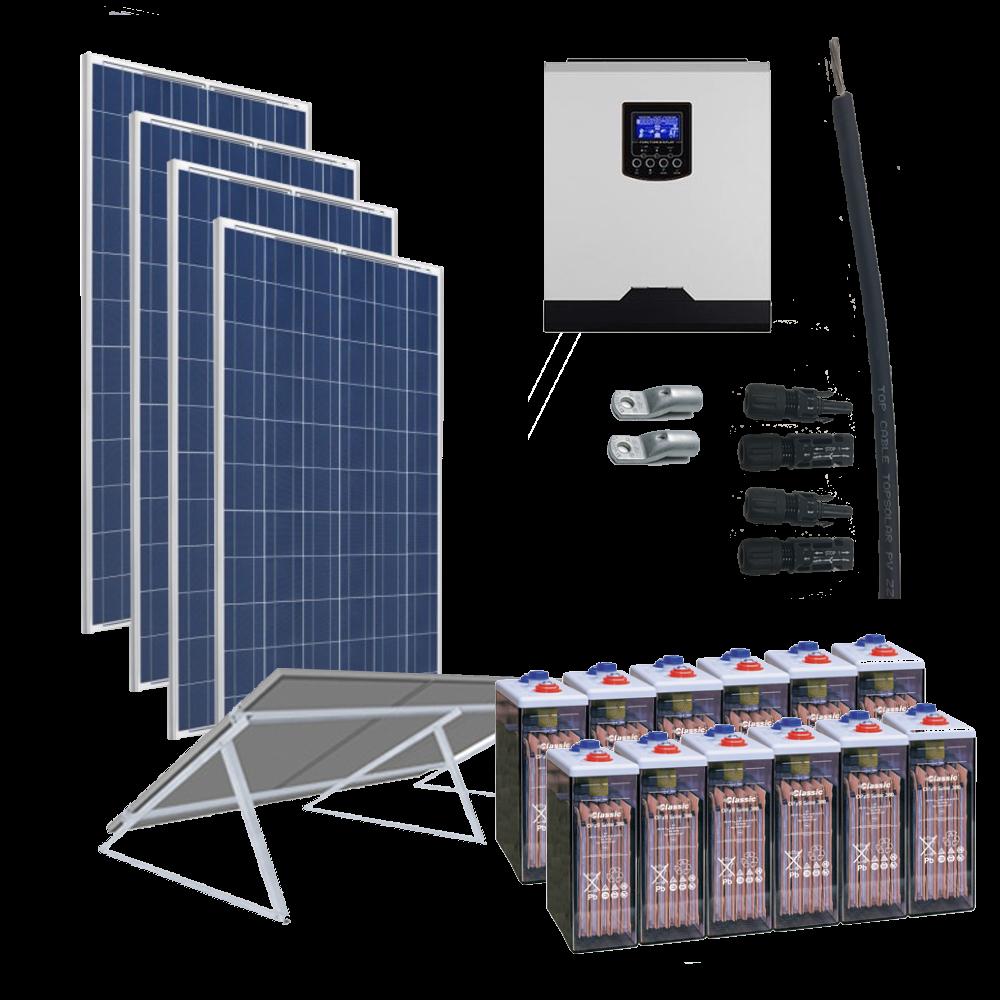 Kit Solar 5000W 24V / 8250Wh/día / 765Ah OPZS