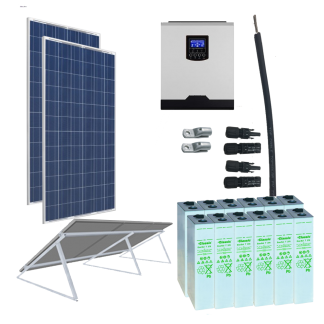 Kit Solar 3000W 24V 3300Wh Dia