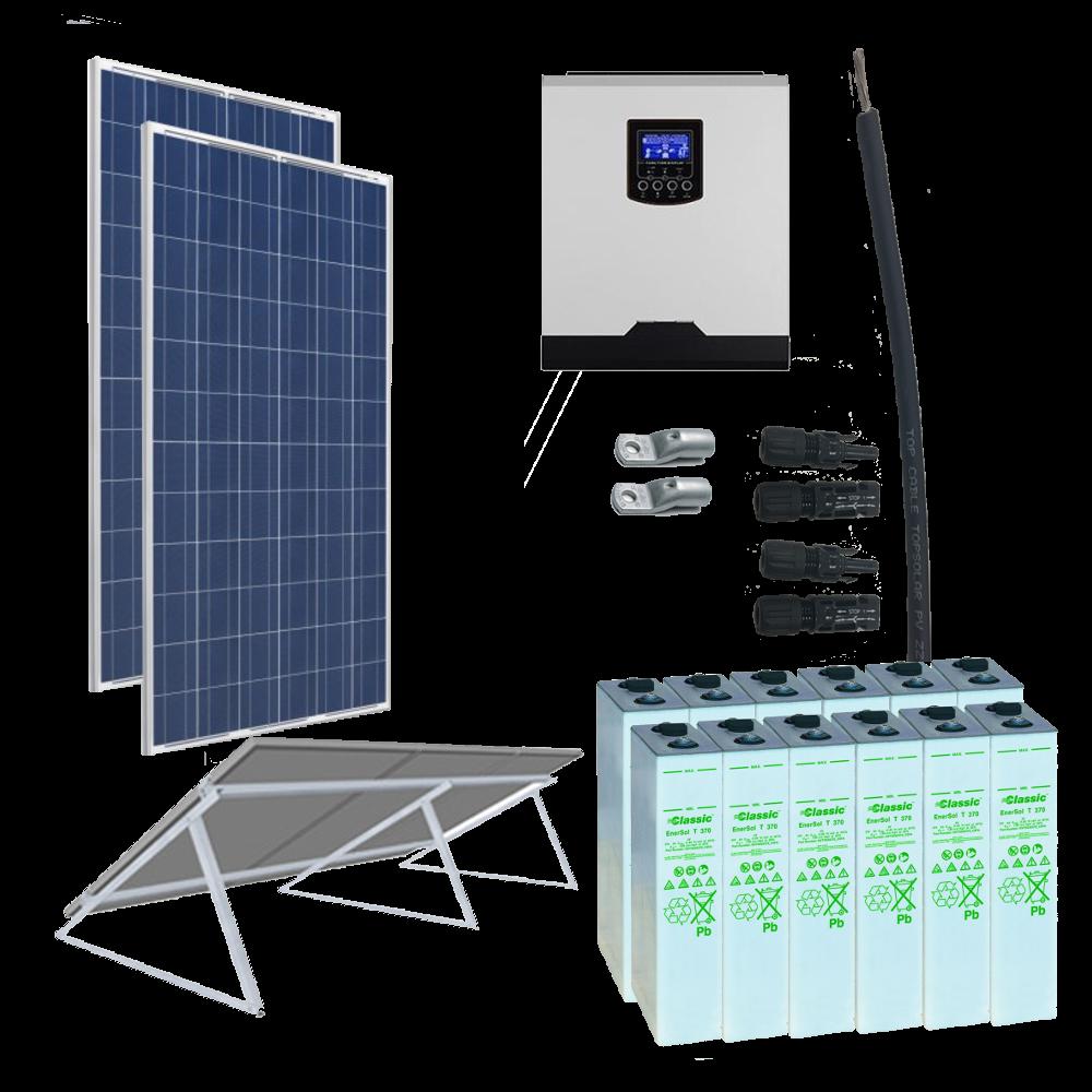 Kit Solar 3000W _ 24V _ 3300Wh/día