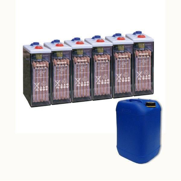 Bateria estacionaria  OPzS SOLAR 660 / 660 Ah C120 Cargada en Seco