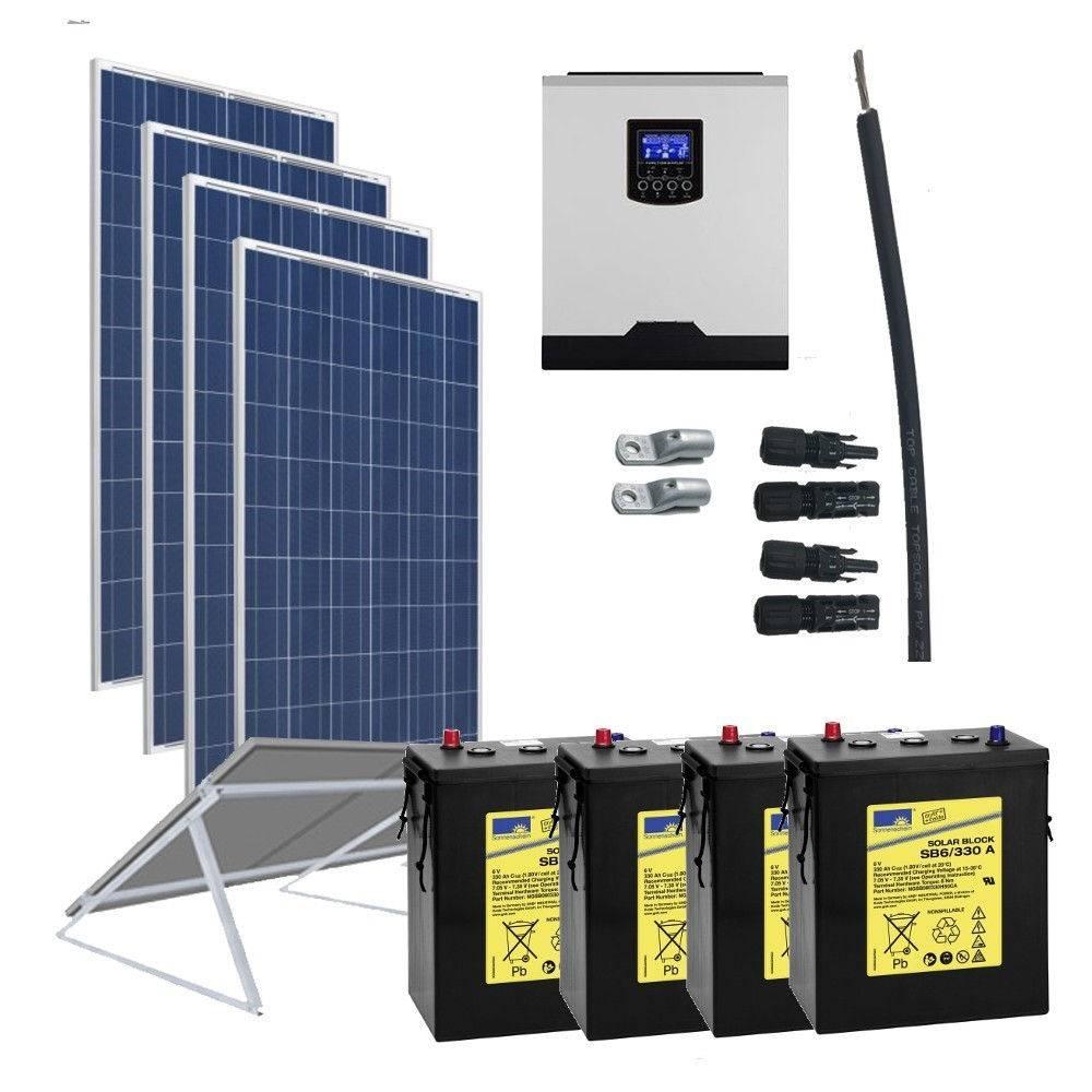 Kit Solar 3000W 24V  6400Wh/día 330Ah Gel
