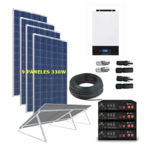 Kit Solar 5000W 48V 14625Wh/Día BATERIA LITIO - Permanente