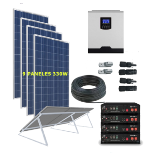 kit solar 5000W Litio Vivienda Permanente