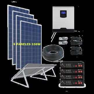 kit solar 5000W Litio Vivienda Permanente