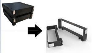 Brackets para unión de baterías Pylontech US2000B