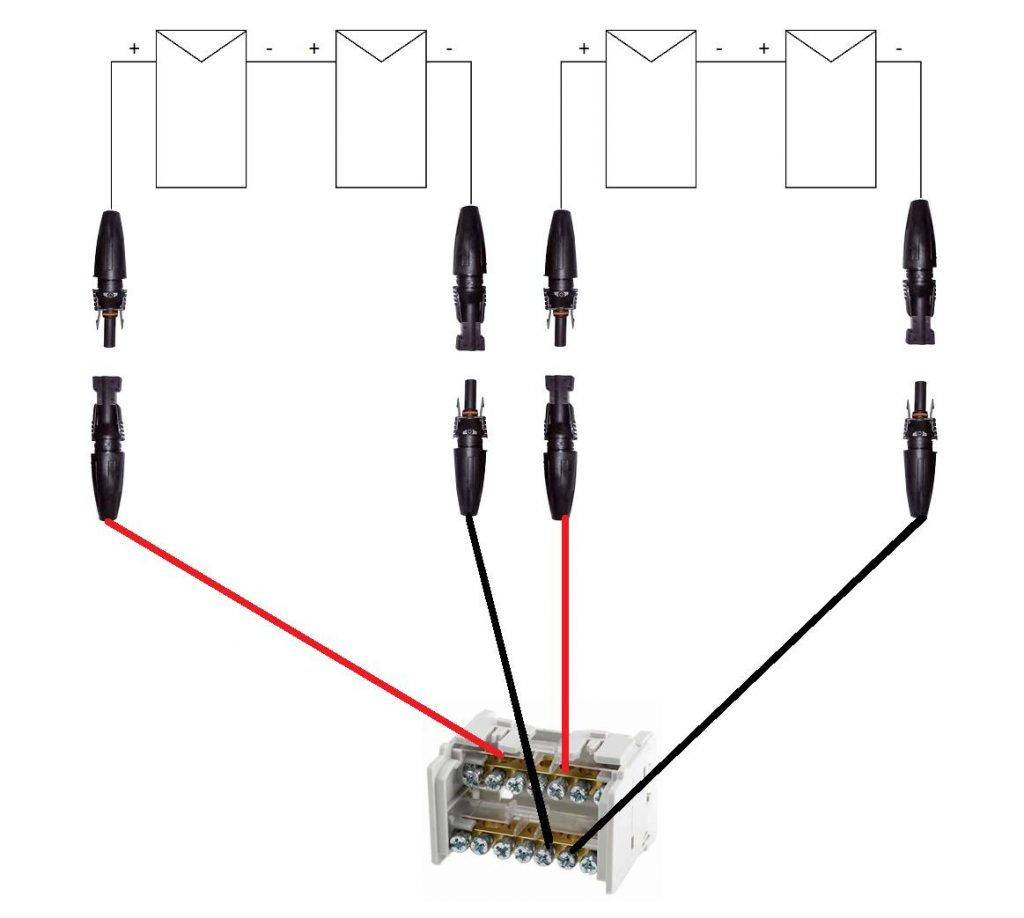 Esquema de conexión de paneles solares en paralelo - Atersa