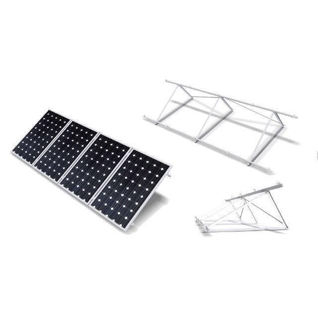 Estructura soporte reforzada 30º para 4 paneles solares de 72 células