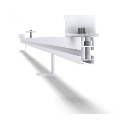 Estructura coplanar para 5 módulos y montaje sobre cubierta inclinada