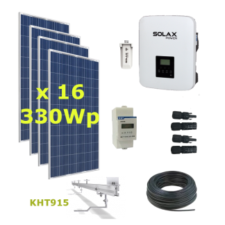 Kit Solar Autoconsumo Directo 5,3kWp - Solax Boost X1 5.0