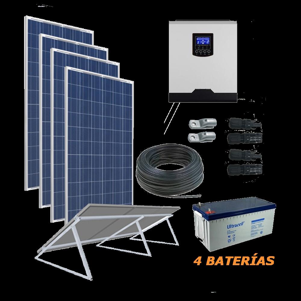 Kit Solar 5000W 48V  6400Wh/día AGM Economy