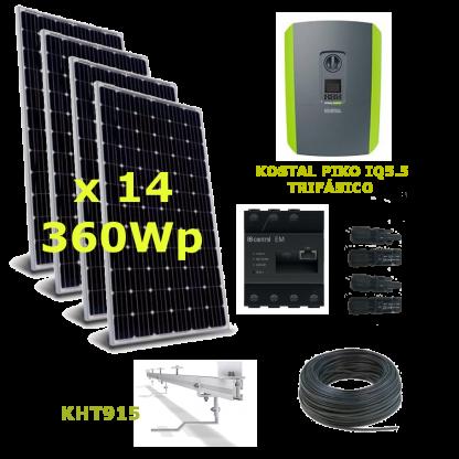 Kit Solar Autoconsumo Trifásico 5kWp Kostal IQ 5.5