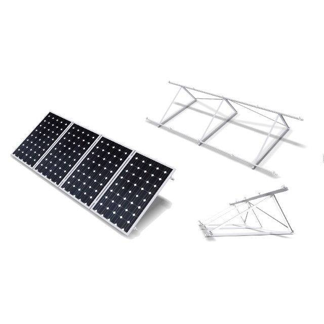 Estructura soporte reforzada 30º para 7 paneles solares de 72 células