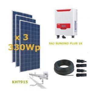 Kit Solar ECONOMY Autoconsumo Directo 1kWp - SAJ 1K