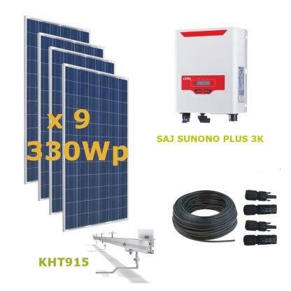 Kit Solar Autoconsumo Directo 3kWp - SAJ SUNUNO PLUS 3K