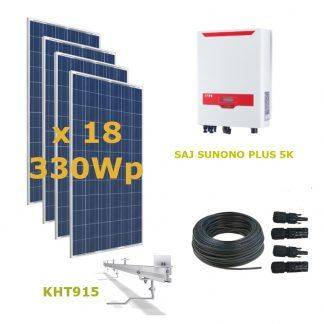 Kit Solar Autoconsumo Directo 5kWp - SAJ SUNUNO PLUS 5K