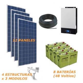 Kit solar aislada 5000W 48V 19800Wh/Dia