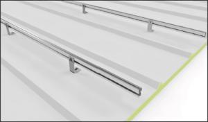 Estructura coplanar para 6 módulos y montaje en cubierta inclinada