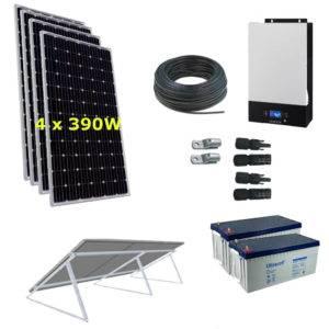 Kit Solar 3000W 24V  9800Wh/día Economy Monocristalino