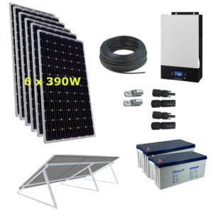 Kit Solar 3000W 24V 14600Wh/día Economy Monocristalino
