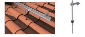anclaje de varilla roscada para paneles solares
