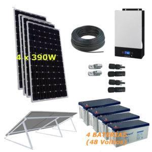 Kit Solar 5000W 48V  9800Wh/día Economy Monocristalino