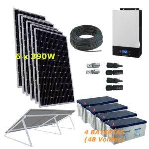 Kit Solar 5000W 48V 14600Wh/día Economy Monocristalino