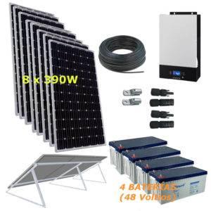 Kit Solar 5000W 48V 19500Wh/día Economy Monocristalino